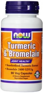 Now Foods Turmeric And Bromelain Veg Capsules, 90 Count