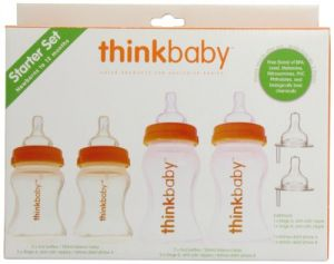 Thinkbaby Bpa Free Starter Set, Orange-natural, 0-12 Months