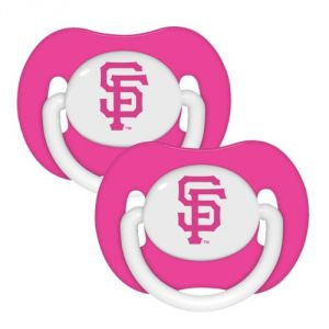 Mlb San Francisco Giants Pacifiers Pack Of 2, Pink