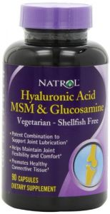 Natrol Vegetarian Hyaluronic Acid Msm And Glucosamine, 90 Capsules (pack Of 2)