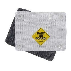 Safety 1st Pack Baby On Board Deluxe Sunscreen - 4 Pack