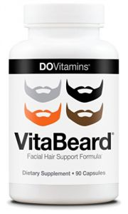 Vitabeard - Beard Growth Facial Hair Support Formula - Vegan, Non-gmo - 90 Capsules