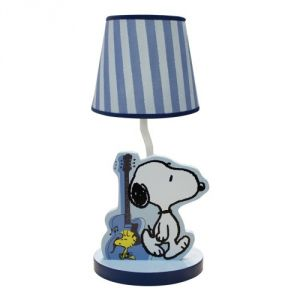 Bedtime Originals Hip Hop Snoopy Lamp, Blue