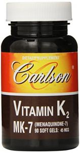 Carlson Labs Vitamin K2-7 45 Mcg Mineral Supplement Softgels, 90 Count
