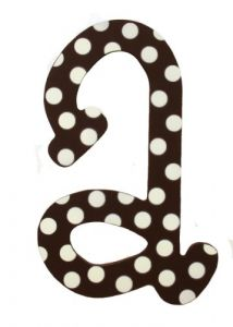 My Baby Sam Polka Dot Letter A, Brown-white