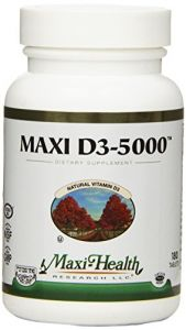 Maxi D3-5000 Nutrition Supplement, 180 Count