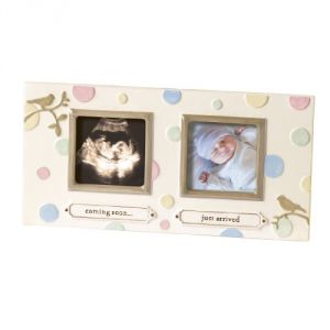 Grasslands Road Dot Dot Dot Sonogram Stoneware Frame, 8-1-8 By 12-1-4-inch