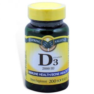 Spring Valley - Vitamin D-3 2000 Iu, High Potency, 200 Softgels