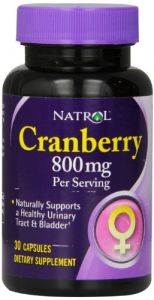 Natrol Cranberry 800 Mg Capsules, 30-count
