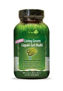 "Irwin Naturals Women""s Living Green Liquid-gel Multi Soft-gels, 90-count Bottle"