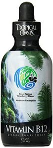 Tropical Oasis Liquid Vitamin B12 - Up To 96% Absorption - Help Fights Fatigue And Promotes Red Blood Cell Formation* - 4 Oz, 24 Servings