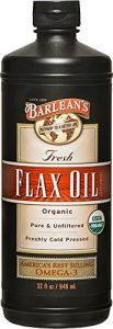 "Barlean""s Organic Oils Fresh Flax Oil, 32-ounce Bottle"