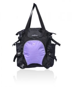 Obersee Innsbruck Diaper Tote With Detachable Cooler, Black-purple