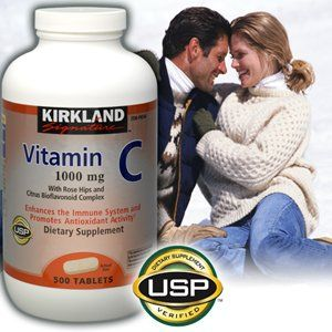 Kirkland Signature Vitamin C 1000 Mg With Rose Hips 500 Tablets