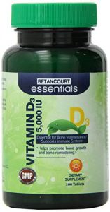 Betancourt Essentials Vitamin D 5000 Iu, 100 Count