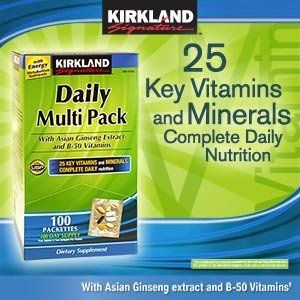 Kirkland Daily Multivitamin Pack With Energy Boosting Nutrients, 100 Packets