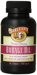 "Barlean""s Organic Oils Borage Oil, 1000 Mg. 60 Count, Bottle"