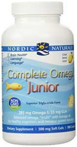 Nordic Naturals - Complete Omega Junior, Promotes Brain, Bone, And Nervous And Immune System Health, 180 Count
