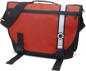 Dadgear Courier Diaper Bag - Red Retro Stripe