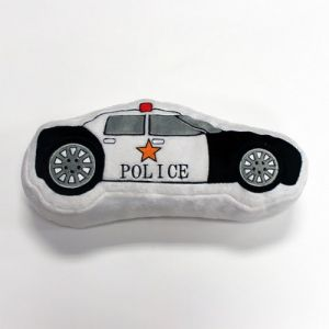 One Grace Place Teyos Tires Decorative Pillow Police Car, Black, White, Grey, Orange, Red