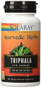 Triphala Extract 500mg (ayurvedic) Solaray 90 Caps
