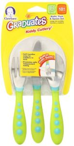 Gerber Graduates Bpa Free 3 Pack Graduates Kiddy Cutlery Set, Colors May Vary