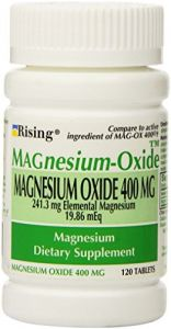 Magnesium Oxide 400 Mg Dietary Supplement Tablets - 120 Tablets