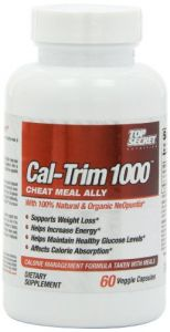 Top Secret Nutrition Cal-trim Calorie Blocker Capsules, 60 Count