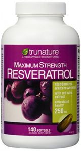 Trunature Maximum Strength Resveratrol 250 Mg 140 Softgels