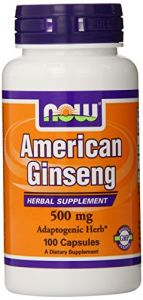 Now Foods American Ginseng, 100 Capsules, 500 Mg