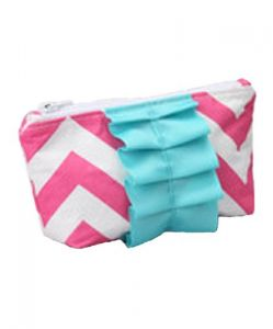Caught Ya Lookin Diaper Bag Mothers Cosmetic Purse, Pink Chevron