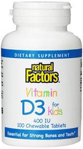 Natural Factors Children Chew Vitamin D3 400iu, 100 Count