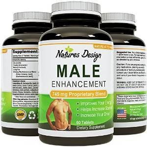 Natural Male Enhancement Supplement - 745 Mg Potent And High Quality Capsules - Pure Maca Root, L-arginine & Tongkat Ali Powder