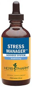 Herb Pharm Stress Manager Herbal Formula With Rhodiola And Holy Basil Extracts - 4 Ounce
