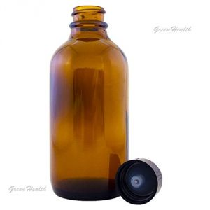 Amber Glass Bottle 4oz W/lid (12 Pcs)