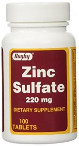 Zinc Sulfate 220 Mg Dietary Supplement Tablets - 100 Ea (pack Of 1)