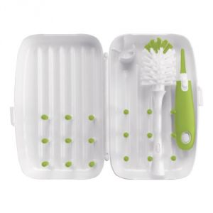 Oxo Tot On-the-go Drying Rack And Bottle Brush, Green