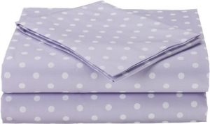 American Baby Company Percale 3 Piece Toddler Sheet Set, Lavendar Dot