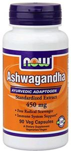 Now Ashwagandha Extract 450mg 90 Vcaps ( Multi-pack)