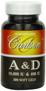 Carlson Labs Vitamin A And D, 10000/400 Iu, 300 Softgels