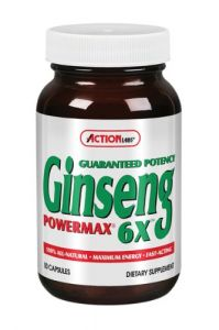 Action Labs Ginseng Powermax 6x, 50-count