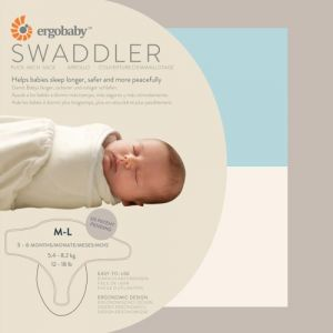 Ergobaby Swaddler 2 Pack - 100% Cotton Baby Swaddle Blanket - Blue-natural - Medium-large