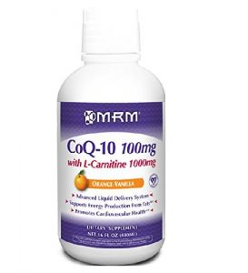 Mrm, Co-q10 100 Mg, W/ L-carnitine 1000 Mg, Orange-vanilla Flavor, 16oz.