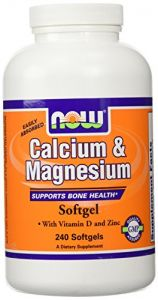 Now Foods Calcium & Magnesium + Vit D & Zinc 240 Softgels