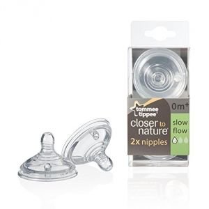 Tommee Tippee Nipples, Slow Flow, 2-count
