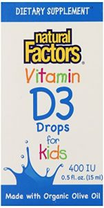 Natural Factors Vitamin D3 400iu For Kids Liquid, 0.5 Fluid Ounce