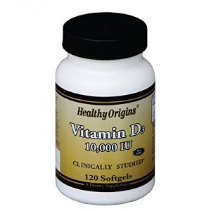 Healthy Origins Vitamin D3 10, 000 Lulanolin Gels, 120 Count