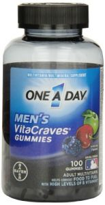 "One A Day Men""s Vitacraves Gummies, 100 Count"