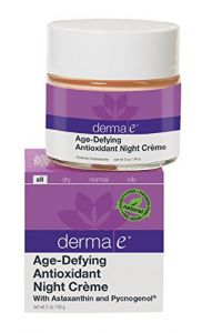 Derma E Age-defying Night Crme With Astaxanthin And Pycnogenol, Packaging May Vary, 2 Oz (56 G)