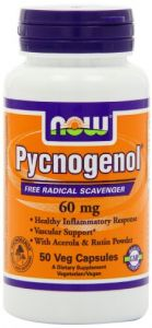Now Foods Pycnogenol 60mg, 50 Vegetarian Capsules
